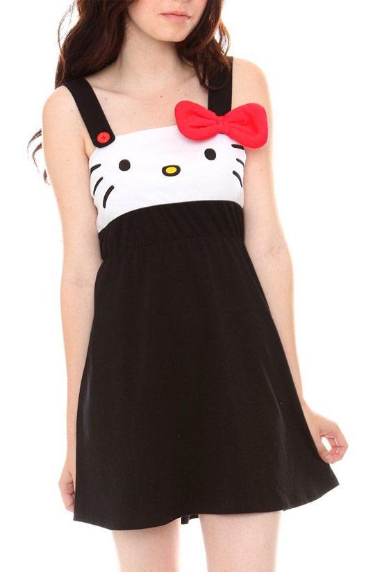 Inspiração Hello Kitty - vestido teen