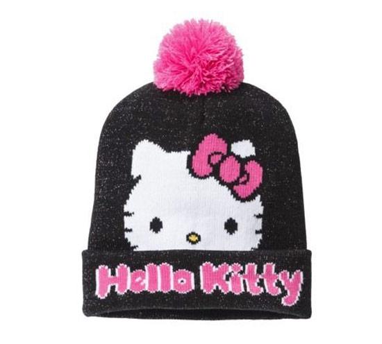 Inspiração Hello Kitty - touca com pompom