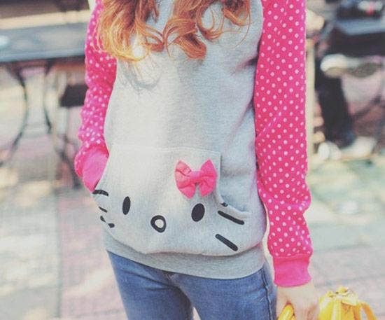Inspiração Hello Kitty - blusa de frio