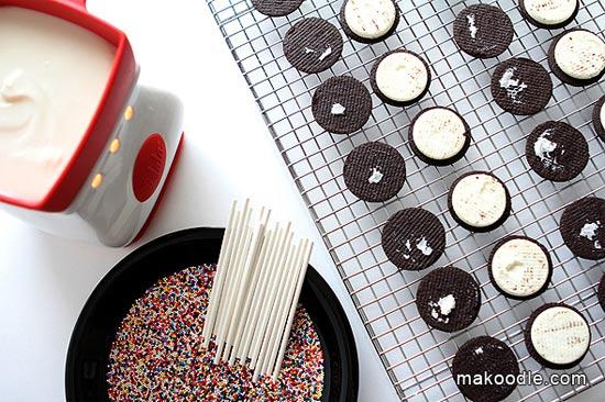 Como fazer pirulito de biscoito Oreo
