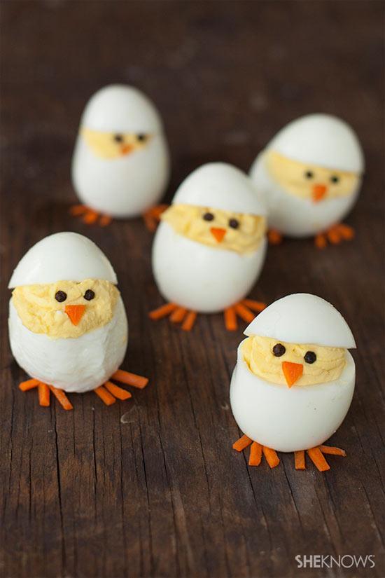 Cozinha criativa - receita divertida: pintinho no ovo