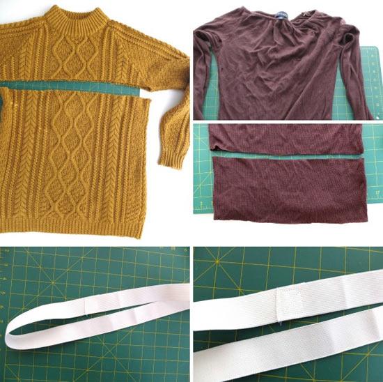 Como transformar blusa de frio em saia