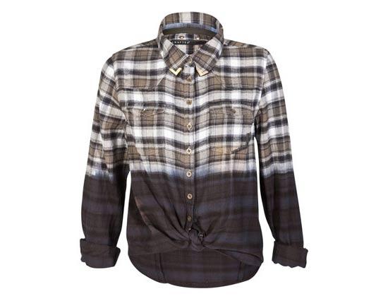 Camisa xadrez customizada com dip dye e ponteira