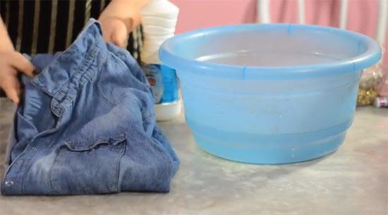 DIY customizar camisa jeans