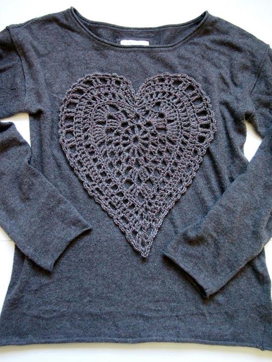 Inspiração coração - blusa manga longa
