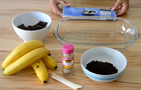 Como fazer lollypop de banana