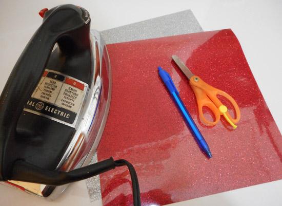 Como customizar com glitter termocolante