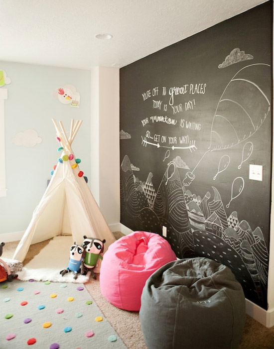 Inspiração: decoração parede de lousa