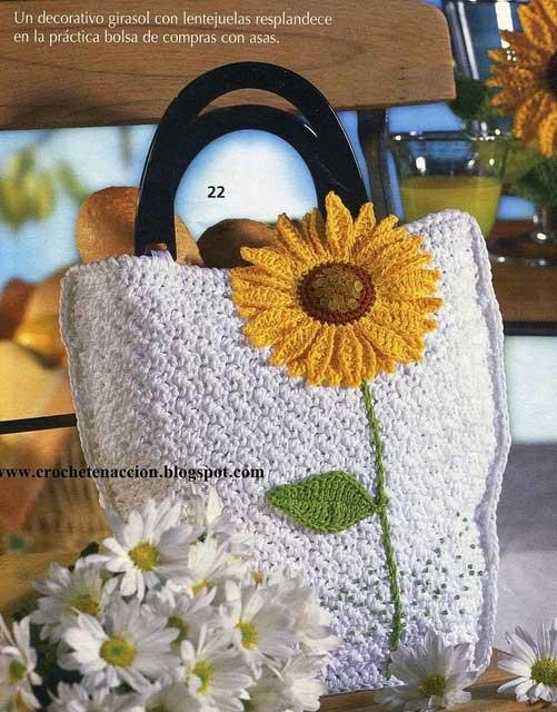 Inspiração: girassol - bolsa de crochê