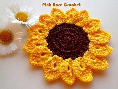 Inspiração: girassol - crochê