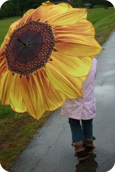 Inspiração: girassol - guarda-chuva