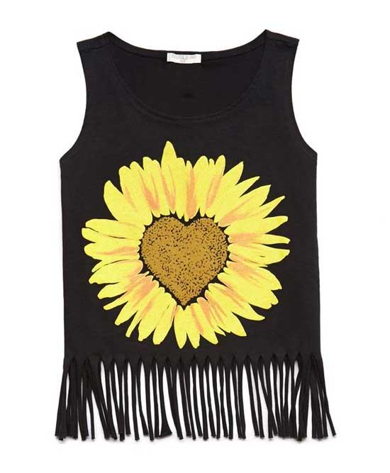 Inspiração: girassol - camiseta customizada