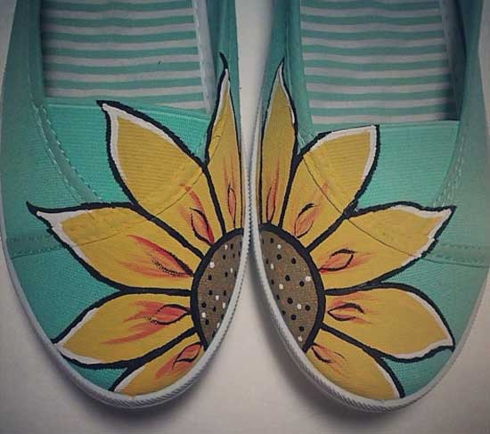 Inspiração: girassol - sapatilha