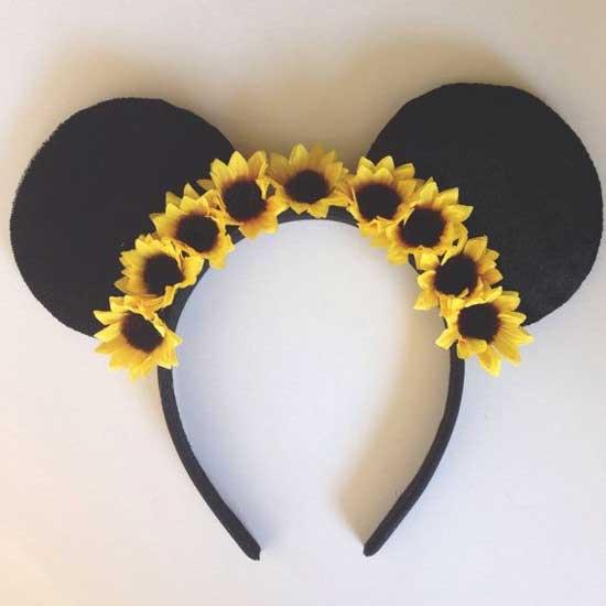 Inspiração: girassol - tiara customizada