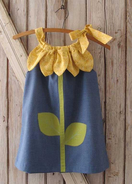 Inspiração: girassol - vestido infantil