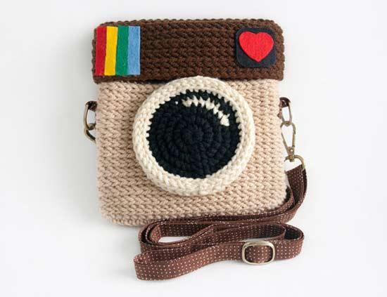 Inspiração: Instagram - bolsa de crochê