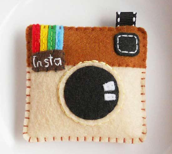 Inspiração: Instagram - chaveiro feltro