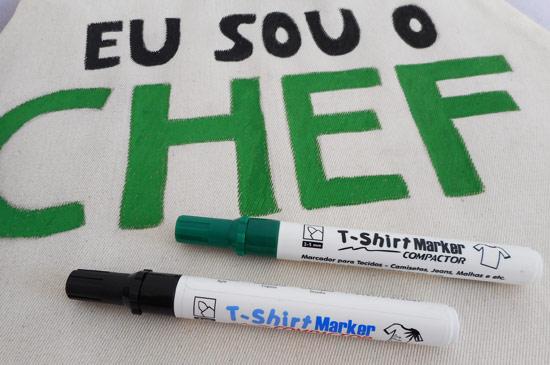 Como customizar avental para o Dia dos Pais com T-Shirt Marker Compactor