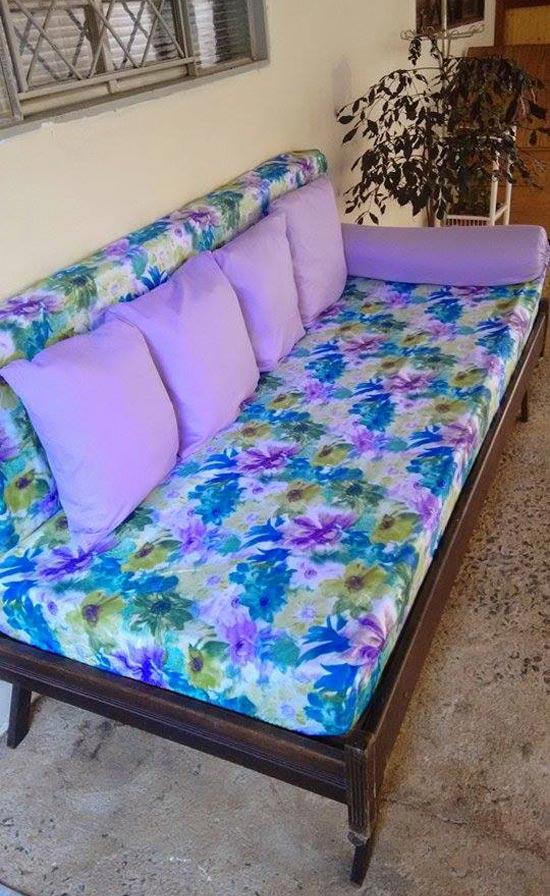 Como fazer banco com cama antiga