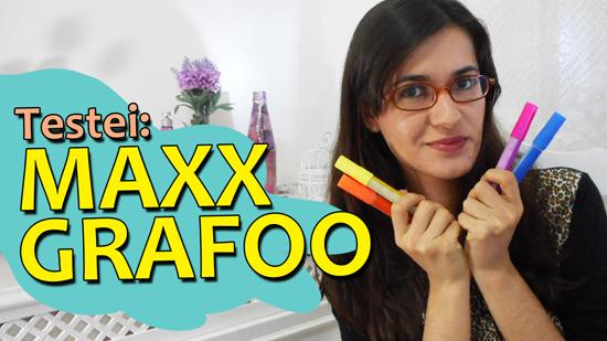 Resenha canetas Maxx Grafoo