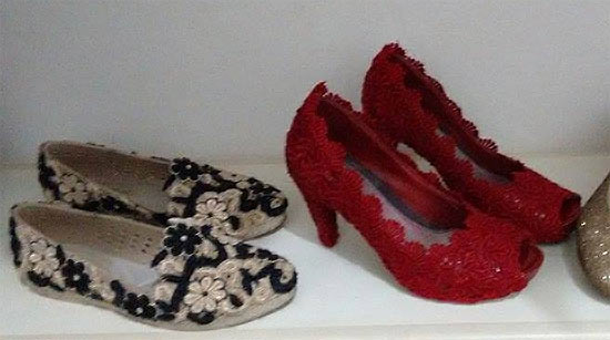 Como customizar sapatos com renda