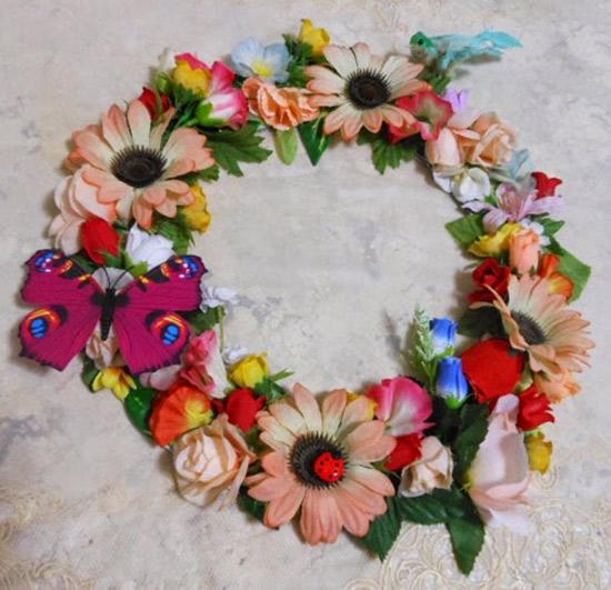 DIY guirlanda de flores