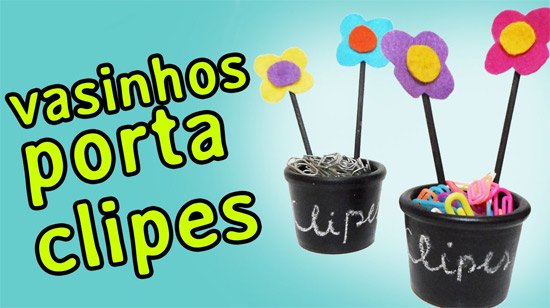 DIY vasinhos porta-clipes para decorar