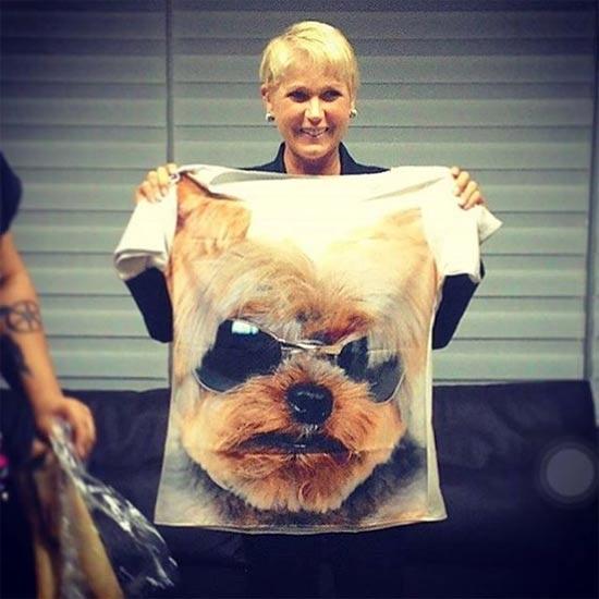 Camisetas estampadas de celebridades por Laéllyo Mesquita