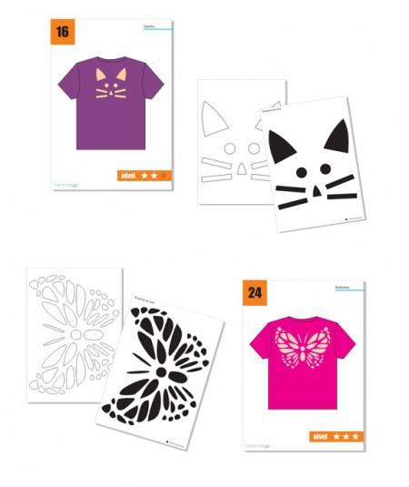Apostila Digital 27 Moldes de Recortes para Costas de Camisetas