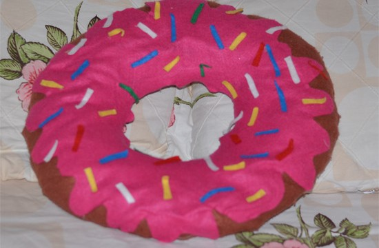 Como fazer almofada donut