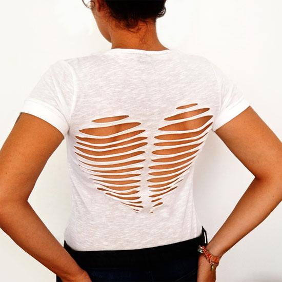 Inspiração: camisetas com recortes nas costas
