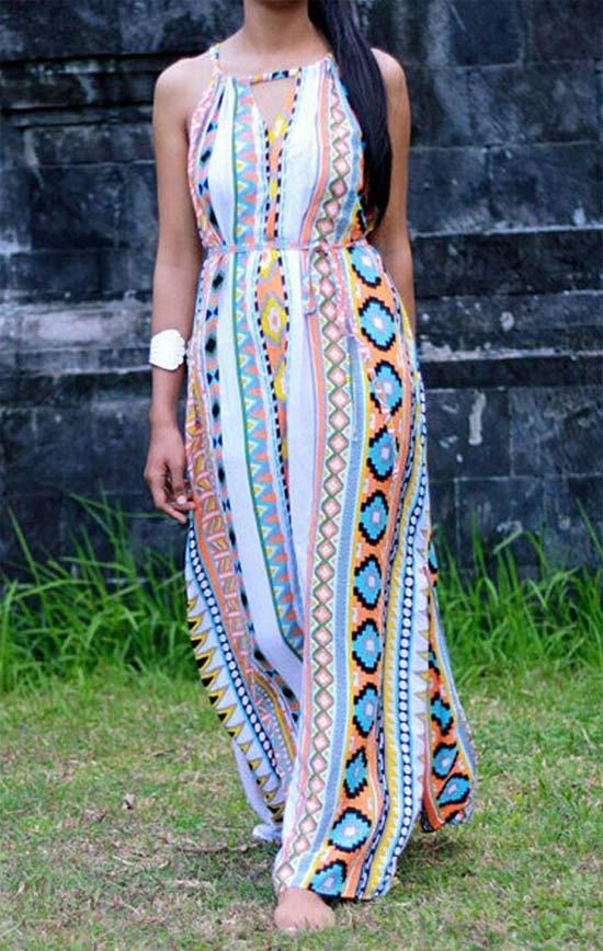 Maxi vestido étnico - With Chic