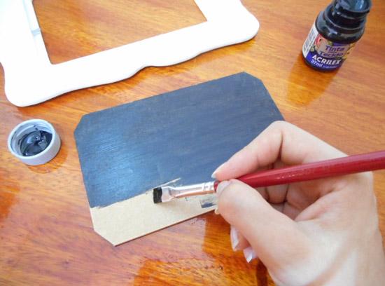 Como fazer porta-retrato lousinha