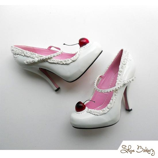 Sapatos com design de doces