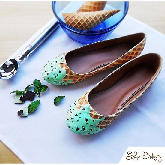 Sapatos com design de doces