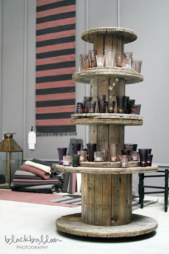 Inspiração: carretel de madeira