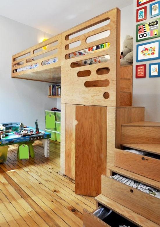 Inspiração: beliches de madeira