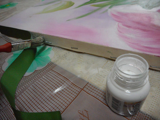Como fazer acabamento de quadro sem moldura